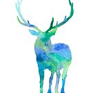 Deer Silhouette by Adlaya