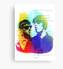 Noel and Liam Gallagher (Oasis) Metal Print
