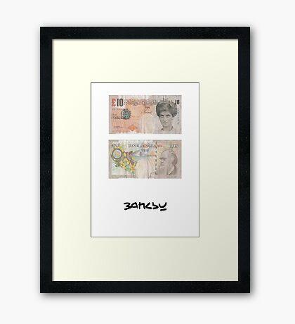 pbbyc - Banksy Princess Diana £10 Note Framed Print