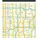 IOWA MAP by JazzberryBlue