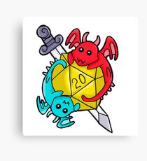 Dice Dragons Canvas Print