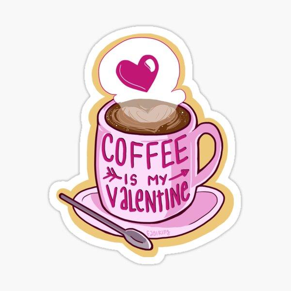 El café es mi San Valentín Pegatina