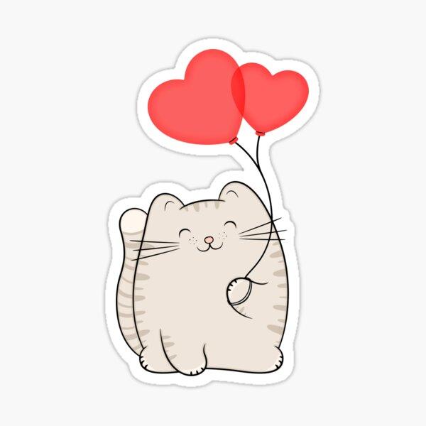 Eli, the love cat Sticker