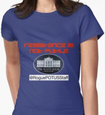 Rogue POTUS Staff - Join the Revolution Womens Fitted T-Shirt