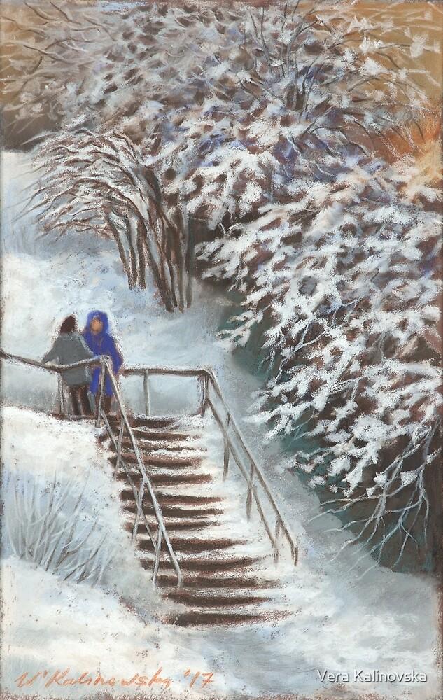 On the stairs by Vira Kalinovska