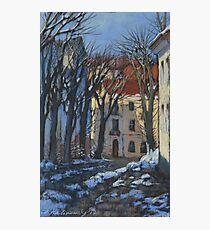 Winter street Photographic Print