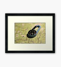 magnetic compass direction of north Framed Print