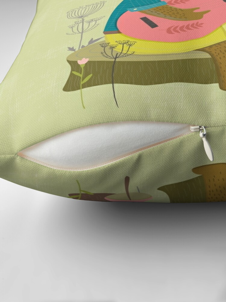 Alternate view of Happy Bear Day Throw Pillow