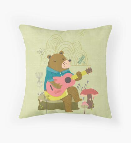 Happy Bear Day Throw Pillow