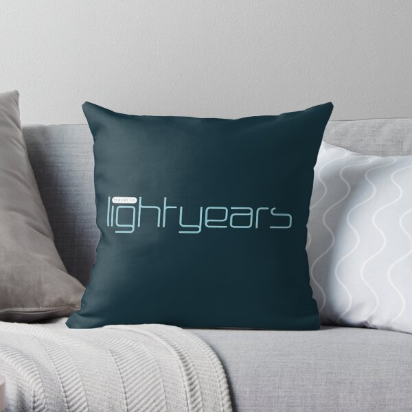 Travel in Light Years Throw Pillow