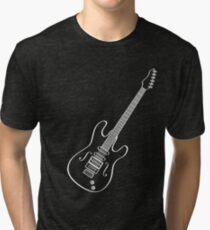 Electric Acoustic Concert Guitar  Tri-blend T-Shirt