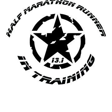 Half Marathon Runner In Training 13.1 by CleverTshirtCo