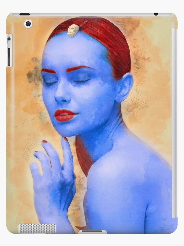 Mystique looks best in blue by JayCally