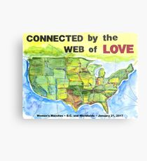Connected by the Web of Love Metal Print