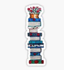Rosebush & Books Sticker