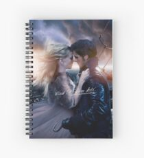 Once Upon A Time Captain Swan Spiral Notebook
