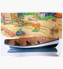 Model boat & painting 3 Poster