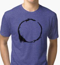 Arrival Movie Circle Language 4 Tri-blend T-Shirt