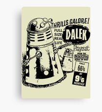 dalek playsuit Canvas Print