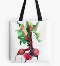 Watercolor image of beet root on white background.  Tote Bag