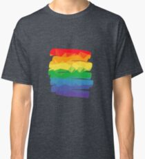 Pride Rainbow Brush Stroke Hope Classic T-Shirt