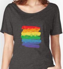 Pride Rainbow Brush Stroke Hope Women's Relaxed Fit T-Shirt