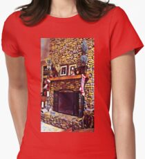 Holiday Hearth Womens Fitted T-Shirt