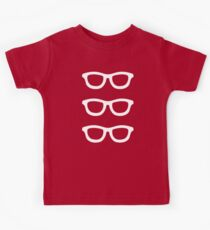 Smart Glasses Pattern (white on black) Kids Clothes