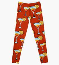 Orange Cocktail Leggings