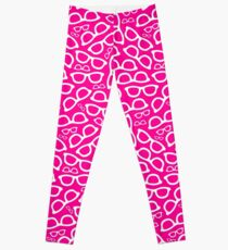 Pink/Magenta Smart Glasses Pattern Leggings