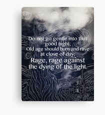 Starry Night- Do not go gentle into that good night Canvas Print