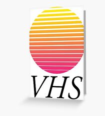 VHS CASSETTE TAPE Greeting Card