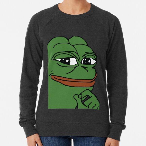 Smug Pepe (Highest Resolution) Lightweight Sweatshirt