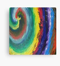 spiral colours Canvas Print