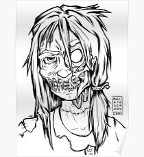 Zombie School Girl - OOTD style Poster