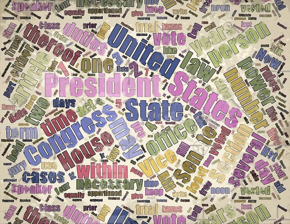 Colorful Constitution Text Graphic by morningdance