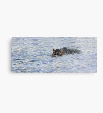 Nijlpaard nr één Metal Print