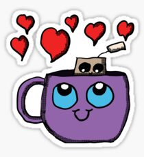 Kawaii Tea Cup and Tea Bag Sticker