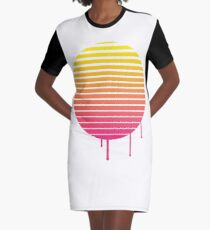 VHS Cassette Vaporwave Graphic T-Shirt Dress