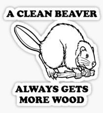 A clean beaver always gets more wood Sticker