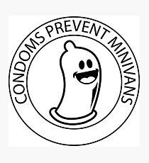 Condoms prevent minivans Photographic Print
