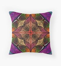 Beautiful stained glass design Throw Pillow