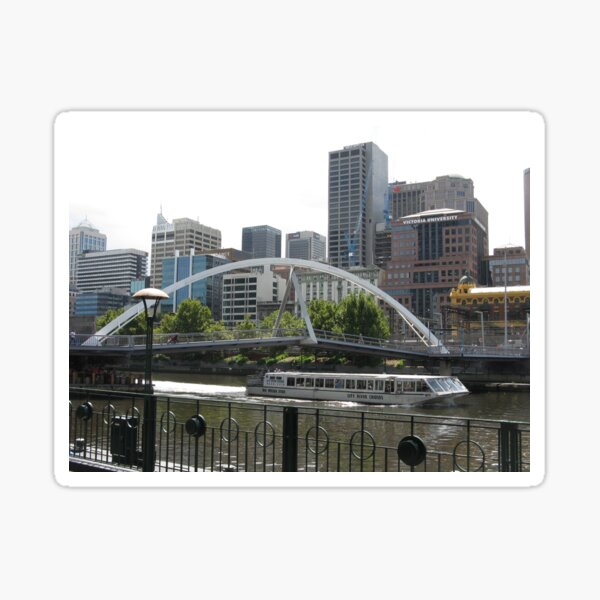 BRIDGE ACROSS THE YARRA  Sticker
