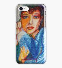 Carmel - Portrait Of A Woman In A Blue Dress iPhone Case/Skin