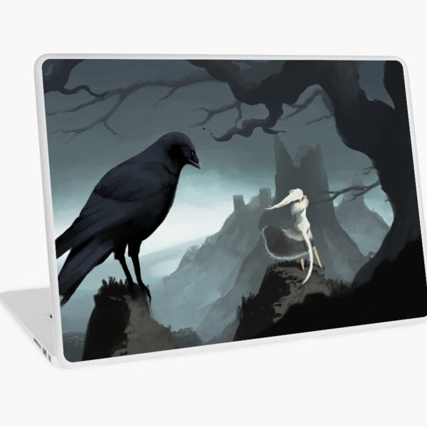 Crossbreed Priscilla and the painted world of Ariamis Laptop Skin