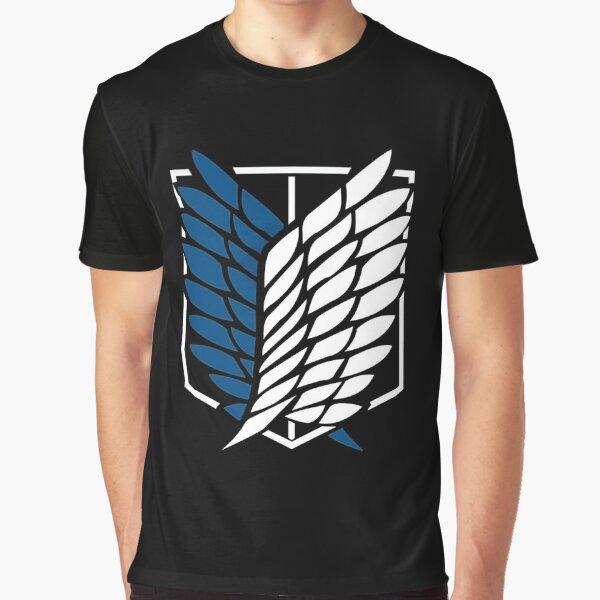 Shingeki no kyojin logo Camiseta gráfica