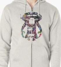 Space Monkeyz Celestial Graphic Zipped Hoodie