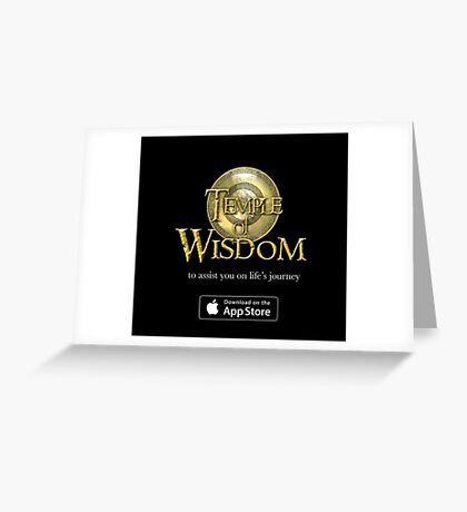Temple Logo Greeting Card