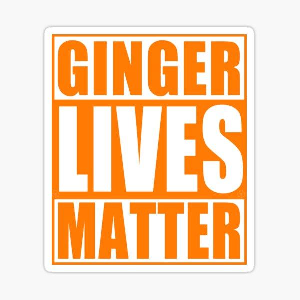 Irish Ginger Lives Matter St Patricks Day Sticker