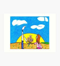 Daisies from Daddy Art Print